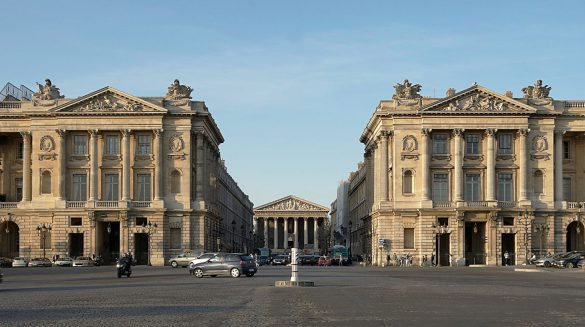 Present view of the Rue Royale, along the axis Place de la Concorde and the Église de la Madeleine