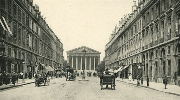 View of the rue Royale in the 1900's